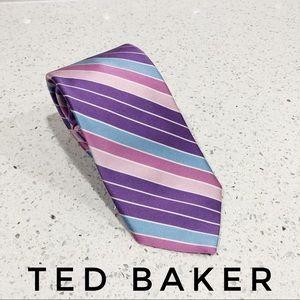Ted Baker London Striped Paisley Silk Tie EUC